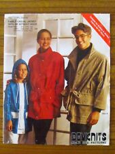 BEVKNITS PATTERN - 2001A FAMILY CASUAL JACKET HOOD MENS LADIES CHILD UNCUT