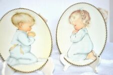 Vintage Flue Covers, featuring Sweet Praying Boy and Girl (set)