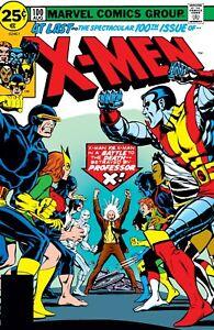 """UNCANNY X-MEN X-MEN #100 COMIC BOOK COVER 11""""x17"""" POSTER PRINT"""