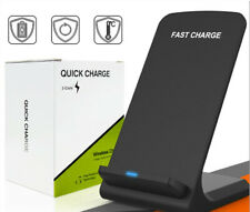 Qi Wireless Fast Charger Charging Stand Pad Dock for Samsung iPhone Android & LG