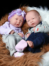 "Reborn Baby Twins Boy Girl Preemie Anatomically Correct 14"" Soft Vinyl Lifelike"