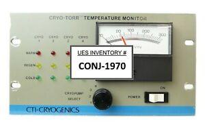 CTI-Cryogenics 8042300 Cryo-Torr Temperature Monitor Working Surplus