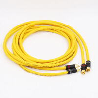 D102MKIII Copper with Silver Plated RCA TO RCA Audio Cable HIFI