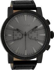 OOZOO XXL Herrenuhr C9649 schwarz Lederband 50 Mm