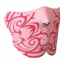Biker Mask Pink Tribal Neoprene Half Face Mask