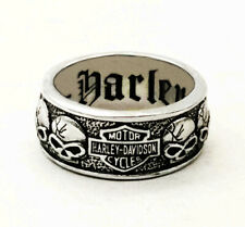Harley Davidson Men's Biker Motorcycle Skull Ring