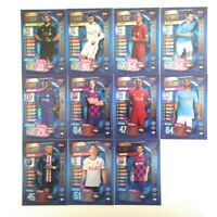 MATCH ATTAX 2019/20 19/20 FULL SET OF ALL 11 100 HUNDRED CLUBS INCL MESSI