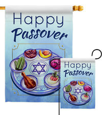 Happy Passover Garden Flag Religious Decorative Small Gift Yard House Banner
