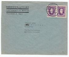 Slowakei Brief Ortsbrief aus Turčiansky Svätý Martin 1941