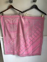 """vintage EMILIO PUCCI SILK SCARF FOULARD 36""""x36"""" PINK White abstract AUTHENTIC"""