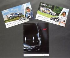 2008 SUBARU IMPREZA WRX/STI SALES BROCHURE w/ PROMO RALLY CARDS ~ 12 PAGES~WRX08