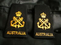 OZ SET OF EPAULETTES SHOULDER AUSTRALIAN NAVY D