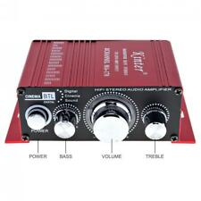 2CH Hi-Fi Stereo Amplifier Booster Support DVD CD MP3 Input for Car Motorcycle