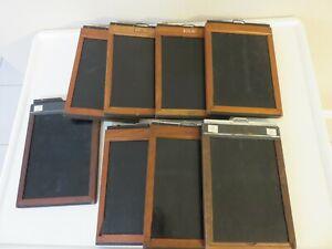 Mixed Lot of  8 Graflex, 5 x 7 film holders  - Wooden