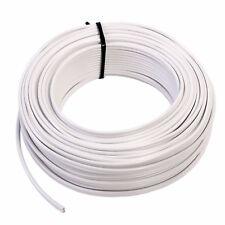 50 m Lautsprecherkabel Weiß Made in Germany 2 x 1,5 mm² 99,99% OFC Kupfer 50m