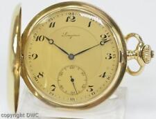 Taschenuhr Pocketwatch LONGINES in aus 18 Kt. 750 Gold um 1900 antik
