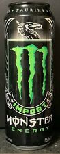 NEW IMPORT MONSTER ENERGY DRINK 18.6 FL OZ (550mL) FULL CAN RARE DISCONTINUED
