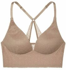 VICTORIA'S SECRET BODY BY VICTORIA Easy Plunge Lounge Bra Woodrose Lace 34D NEW