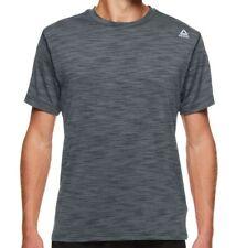 Reebok Neptune Crewneck Shirt Gym Exercise Charcoal Heather Men's Medium-XL