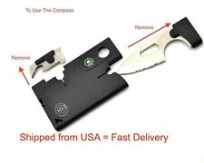 Wallet Size Multitool Survival Kit Credit Card Knife Tool 10 in 1 Multitool