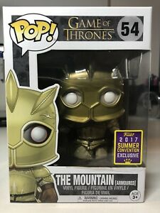Funko pop Game of Thrones #54 The Mountain (Armoured)2017 Exclusive DAMAGED BOX3