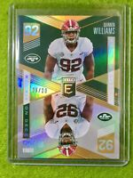 QUINNEN WILLIAMS ROOKIE CARD JERSEY #92 RC SP #/10 JETS  2019 Elite On Deck GOLD