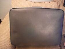 "VINTAGE Blue Leather? or Vinyl? Featherlite Luggage Suitcase 24"" x 18"" x 7"""