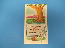 Similac Feedings Are Easy To Prepare Vintage Color Pamphlet Customized 1954 S632
