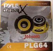Pyle Gear X 6.5 Inch 300 Watt Mid Bass Woofer Sound Speaker System PLG64