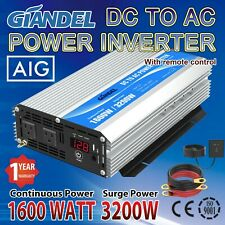 Modified Sine Wave Power Inverter 1600W Dc 12V to Ac 110V~120V Usa Transistors