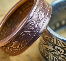 Penny Over 100 Year Old Coin 3-12 Coin Ring Made From Copper Canadian Large Cent
