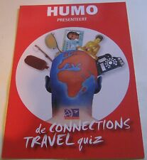 Advertising Humo Trvel Connections Quiz - unposted