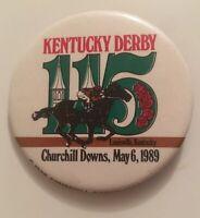 """1989 Kentucky Derby Churchill Downs Kentucky 111th Year 3"""" Button Badge Pinback"""