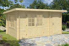 34mm Gartenhaus 450x300 cm Gerätehaus Holzhaus Holz Blockhaus Schuppen Hütte Neu