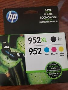 4-PACK HP GENUINE 952XL Black & 952 Color Ink  OFFICEJET 8200 NEW EXP Aug 2021