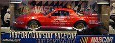 RED 1987 PONTIAC FIREBIRD DAYTONA PACE CAR GREENLIGHT 1:18 SCALE DIECAST MODEL