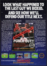 MIKE TYSON's PUNCH OUT!!__Orig. 1988 early Trade Print AD / poster__NINTENDO_NES