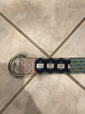Vineyard Vines Patchwork Belt D Ring Men's Medium 39 Inches Long