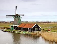 Photo. 2000s. Zaanse Schans, Holland. View - The Seeker Windmill