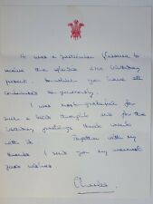 Prince Charles Signed Letter Queen Elizabeth II Son Princess Diana Royalty