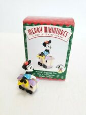 Disney Hallmark 1998 Minnies Luggage Car Merry Miniatures Mickey Express Nib