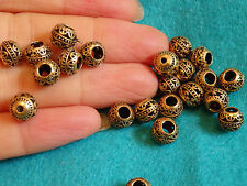 10 gold beads antique vintage jewelry making wholesale bulk UK
