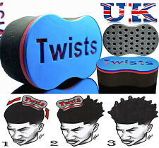 Magia Original Barber Pelo Cepillo Esponja Para temible Locs Twist Bobina Afro Curl Reino Unido