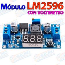 Modulo LM2596 voltimetro alimentacion regulable DC module adjustable voltmeter