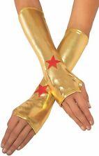 Wonder Woman Gauntlets Women's O/S DC Superheroes Rubie's Halloween Costume
