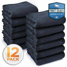 """Ultra Thick Pro Moving Blankets Furniture Pads 12 Pack /Dozen 72"""" x 80"""" 65 lbs"""