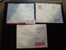 FRANCE - 3 enveloppes franchise 1954/1954/1955 (cy92) french