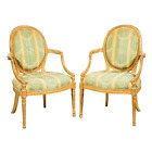 Antique Fauteuils, Chairs, George III Style Giltwood,  Gorgeous Pair!!!