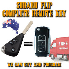 Subaru Chrome Remote Flip Key - 3 Button -Brand New- Liberty - Impreza - Outback