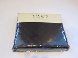 Ralph Lauren Solid DIAMOND STITCH Black Euro sham $165